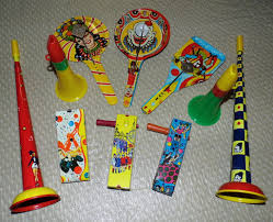 vintage new year s noisemakers all set for new year s vintage tin noise makers b flickr