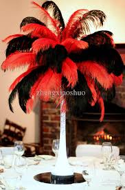 ostrich feather centerpiece wholesale prefect 18 20inch45 50cm and black ostrich feathers