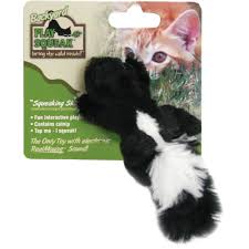 ourpets play n squeak backyard friend cat toy skunk healthypets