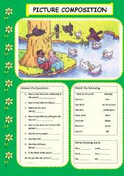 english teaching worksheets picture composition