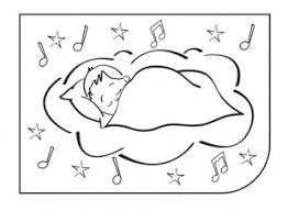 baby sleeping cradle colouring picture ichild