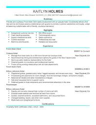 Hospitality Resume Sample by Best Front Desk Clerk Resume Example Livecareer