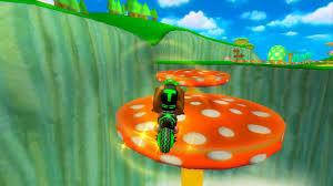 mkwii mushroom gorge backwards freerun troys funky kong texture