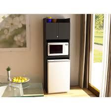Microwave Oven Cart Systembuild Clarkson Mini Refrigerator Storage Cabinet Black