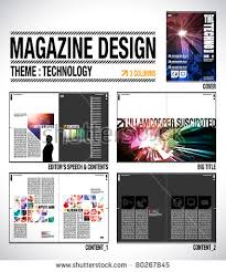 magazine layout graphic design magazine layout design template cover 8 stock vector 80267845