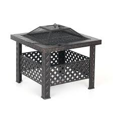 Protective Covers For Patio Furniture - ikayaa metal garden backyard fire pit patio square firepit sales