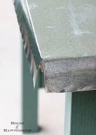 Zinc Top Bar Table How To Build A Zinc Tabletop Metals Bar And Create