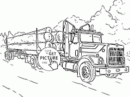 log truck coloring page for kids transportation coloring pages