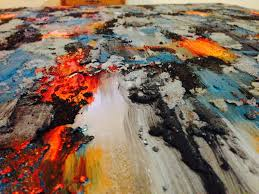 loose brushstrokes bright colors modern painting acrylic and