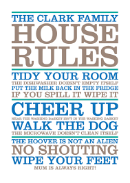 Family House Rules House Rules Poster