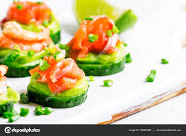 canape mousse canape with cucumber avocado mousse stock photo 5ph 140901282