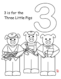 superb 3 little pigs coloring page printable three little pigs