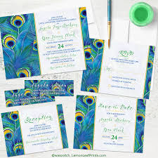 Peacock Wedding Programs Wedding Invitations Wedding Stationery Wasootch Blog Wasootch