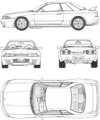 nissan skyline drawing outline nissan skyline gtr r34 drawing cakepins com cars pinterest