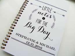 personalized wedding planner wedding notebook notes for the big day wedding planning