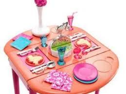 barbie dining room set details barbie dinner to dessert dining room set deal youtube