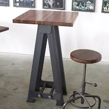 Standing Height Table by Campos Iron Works Modern Iron Industrial Desks Standup