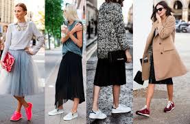saia mid tendência saia mid plus tênis el shaday modas