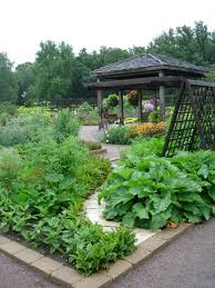 beautiful backyard landscaping ideas green lawn and raised bed