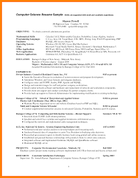 Procurement Sample Resume by 10 Computer Science Resume Resumes Great