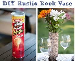Best Out Of Waste Flower Vase Diy Rustic Rock Vasethe Crafty Frugalista The Crafty Frugalista