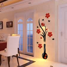 hotselling modern diy vase flower tree crystal arcylic 3d wall hotselling modern diy vase flower tree crystal arcylic 3d wall stickers decal home decor drop shipping 428 in wall stickers from home garden on