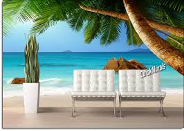 Woodland Forest Peel And Stick Beach Resort Sunset Peel And Stick Canvas Wall Mural