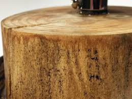 wood desk lamp mini tree stump light emark