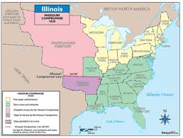 Map Missouri Missouri Compromise Map Outline Map Of The United States 1820 25