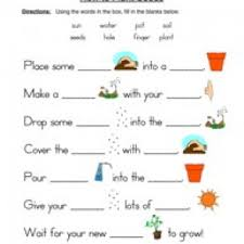 seeds plants worksheet fill in the blanks