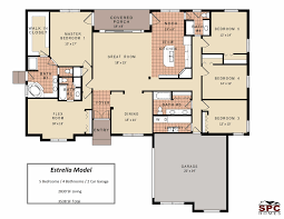 5 bedroom one house plans awesome 5 bedroom one floor plans with layout feng shui