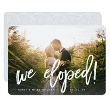 wedding announcement cards just married invitations announcements zazzle