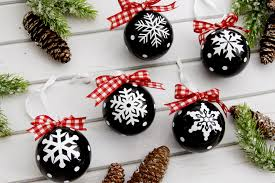 snowflake ornaments chalk style snowflake ornaments