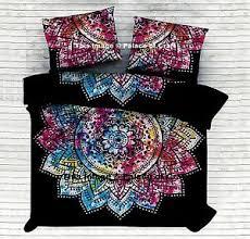 Tie Dye Bed Sets Ombre Mandala Tie Dye Bed Sheet Bedspread Ethnic Bedding Set