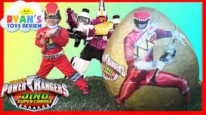 power ranger halloween costumes for kids power rangers dino super charge giant egg surprise opening