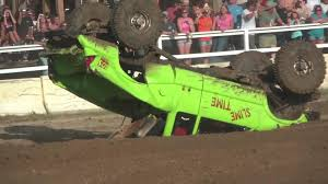 monster truck crashes videos monster truck fails at riding up dirt ramp jukin media