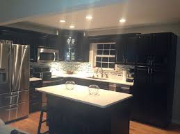 Black Cabinets In Kitchen Painting Kitchen Cabinets By Yourself Designwalls Com