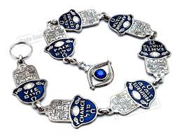 7 home blessings jerusalem hamsa lucky silver plated judaica wall