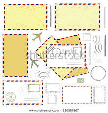 air mail envelope postal stamp isolated stock vector 404687572