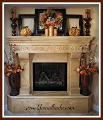 thanksgiving decor mantle