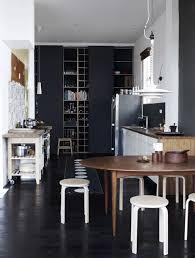 black u0026 white kitchen love do i u003c3 floor to ceiling chalkboard