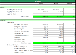 Household Expense Spreadsheet Monthly Household Budget