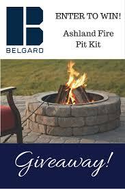 belgard fire pit belgard ashland fire pit kit giveaway gardening know how u0027s blog