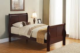 Sled Bed Frame Furniture Sleigh Bed With Table And L Also Wooden Floor