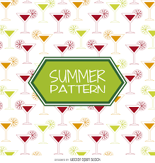 Summer Cocktail Summer Cocktail Drinks Pattern Vector Download