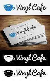 vinyl cafe logo template u2014 photoshop psd dj cafe logo template
