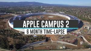 this drone timelapse shows apple u0027s new spaceship hq taking shape u2013 bgr