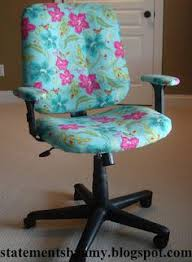 Inexpensive Office Chairs She U0027s Crafty Recovered Office Chair Turn A Dumpy Old Office