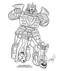 The Megazord Robot Of Power Rangers Jungle Fury Coloring Pages Power Ranger Jungle Fury Coloring Pages