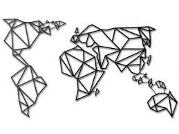 World Map Decor by Nidou Thingiverse